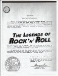 "The Legends Of Rock ""N"" Roll Concerts"